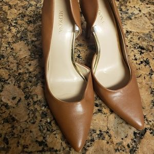 Merona Brown Tan Pointy Heels Never Worn! Sz 7.5